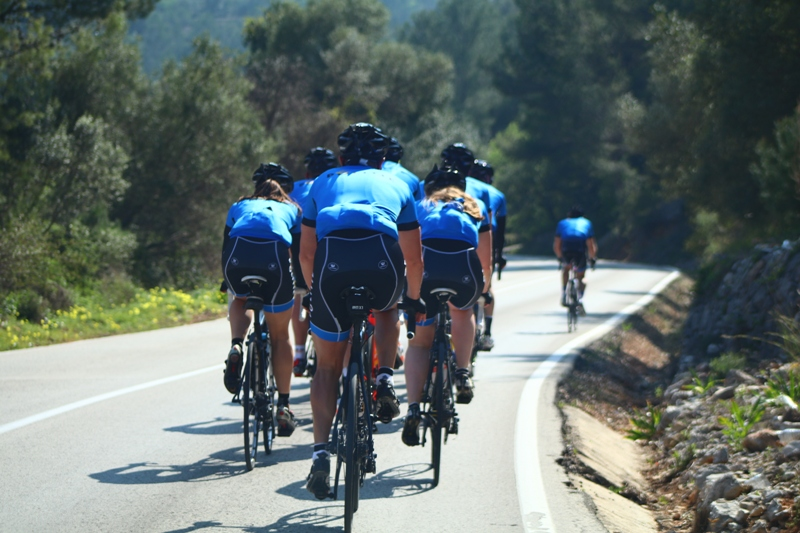 fiets training omgeving Calpe Coll de Rates