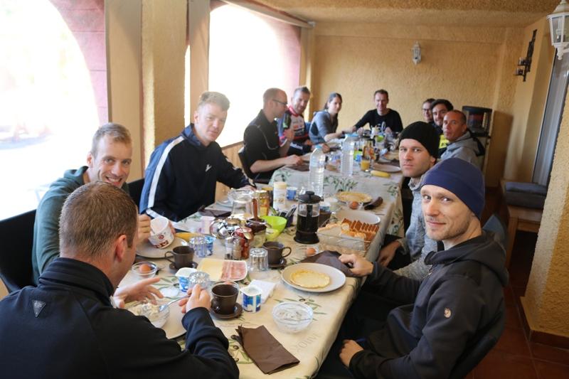 breakfast for cyclist at casa sardonyx
