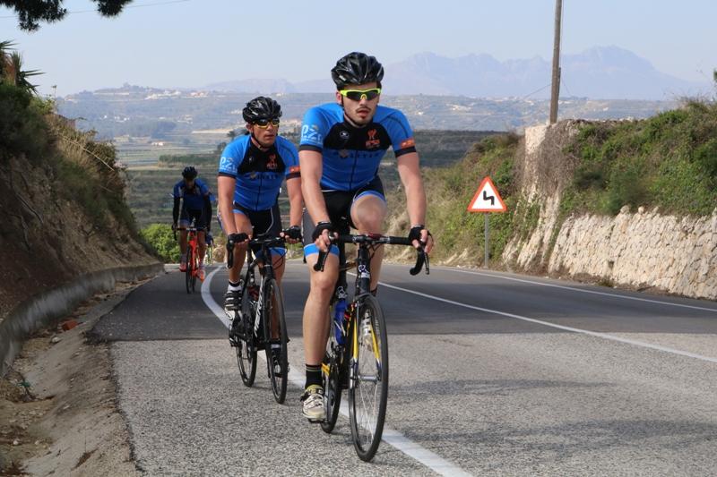 cycling in surrounding calpe