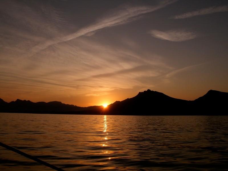 zonsondergang tijdens een duik