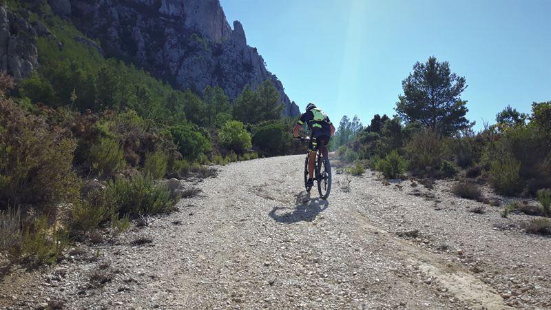 MTB on the sierra Olta
