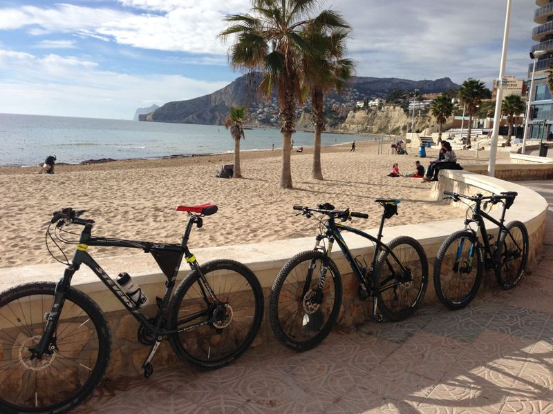 Mountain bikes Calpe beach