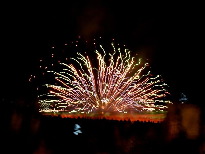 vuurwerk aan het strand van Calpe