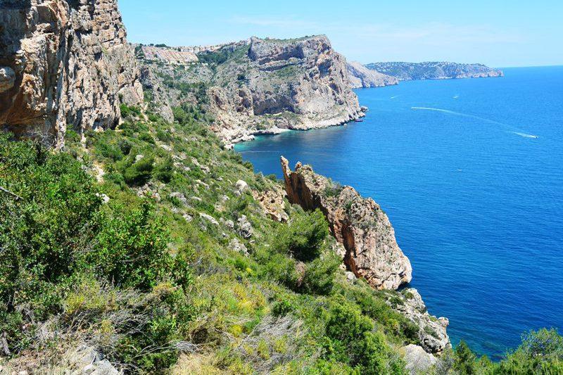 Wandelpad langs de middellandse zee omgeving Moraira Calpe Moraira